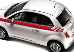 Fiat 500 Badges & Graphics