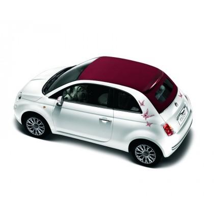 Fiat 500 Butterfly Stickers Black|Dark Grey|Light Grey|Ivory|Maroon