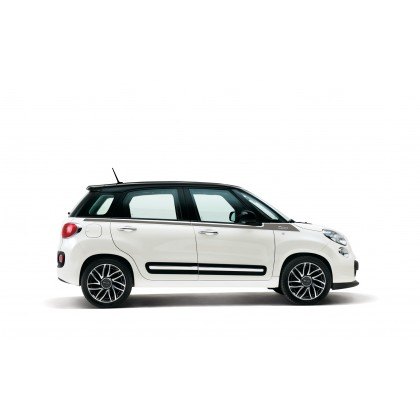 500L Decals Side Stripe with Logo 500 - Dark Grey and Silver - Pair
