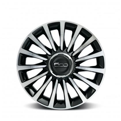 "500L|17"" Alloy Wheel Diamond Design - Two Tone Black - Set of 4"
