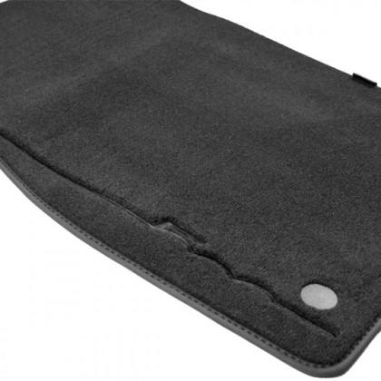 Fiat 500 - Velour Carpet Floor Mats - (Twin Fixing) [White|Black | Red Logo]