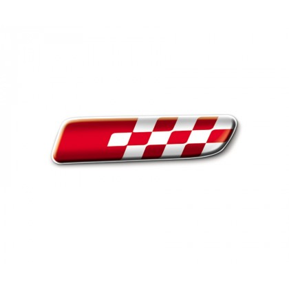 500|500C Side Stylish Decoration Mouldings Badge Red Sport [Pair]