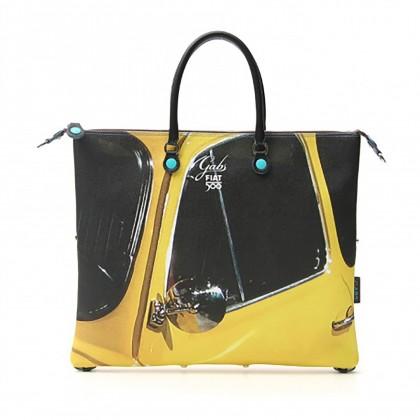 Fiat Capsule Collection Gabs Fiat 500 Side Profile Handbag/Shopper Bag