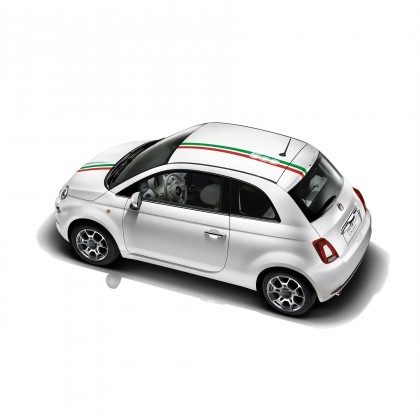 500C Roof Decoration Sport Style Decals Stickers - Italy Stripes