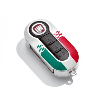 Fiat Punto White Key Cover - Italian Flag Design Italy