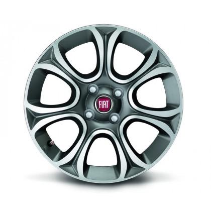 """Fiat Punto 16"""" 7 Spoke Anthracite Opaque Diamond Design Alloy Wheels Set of 4"""