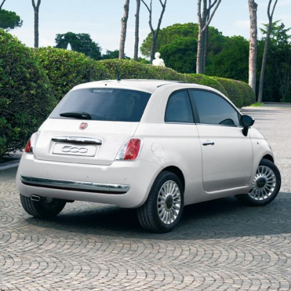 500   500C Rear Chrome Bumper Protection Back Strip - Silver