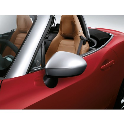 124 Spider Side Mirror Covers/Replacement Caps in Silver - Set of 2