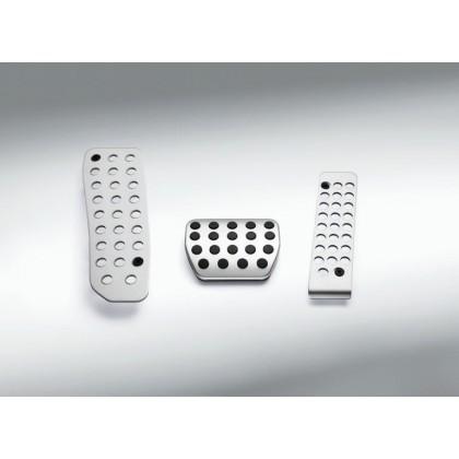 124 Spider Non Slip Footrest Pedal Replacement in Aluminium Rhd