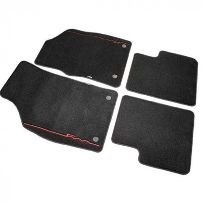 500 Luxury Carpet Tailored Fitted Mats 2012+ Stitched Red Logo