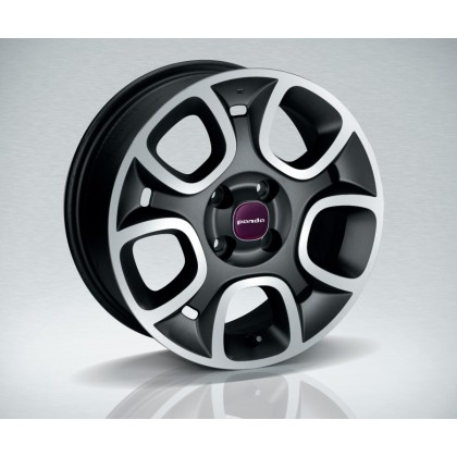 "Panda 15"" Alloy Wheel with Diamond Cut - Dark Grey"