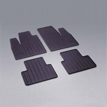 Doblo Rubber All Weather Mats Tailor Made Footwell - Front and Rear