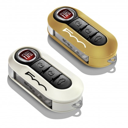 500L - Trekking|500L - Estate Key Covers In Pastel Ochre And White