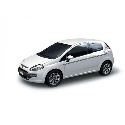 Punto|5 Doors Side Panel Adhesive Decals with Indian Ink Stripes