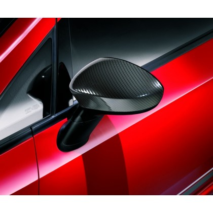 Punto Side Mirror Covers/Replacement Caps - Carbon Look - Set of 2