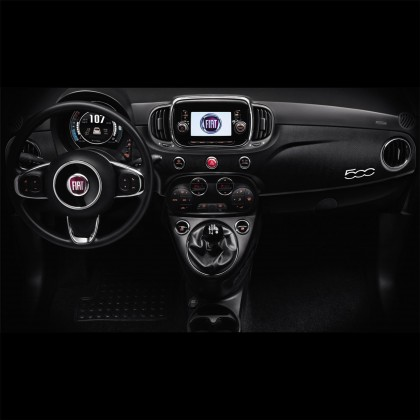 500 Dash Short Part Interior Styling - Micro Carbon Wrap