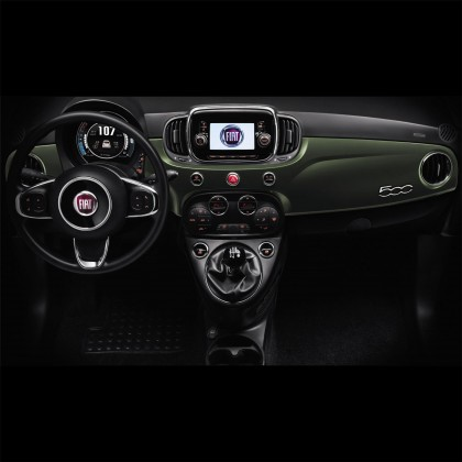 500 Interior Decals Military Green Wrapped Dashboard - Short Part