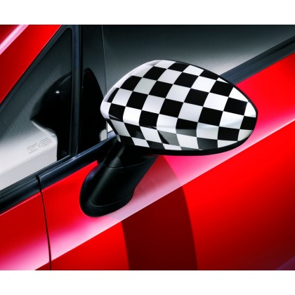 Genuine Fiat Punto 3 Door Checkered Side Mirrors Cover