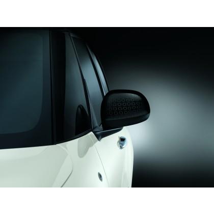 500L Side Mirror Covers/Replacement Caps-Black-Technics Effect-Pair