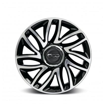 "500L 17"" Alloy Wheel Dual Spokes Diamond Design-Silver-Set of 4"