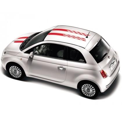Fiat 500 Arrow Stripes Black | Red | White