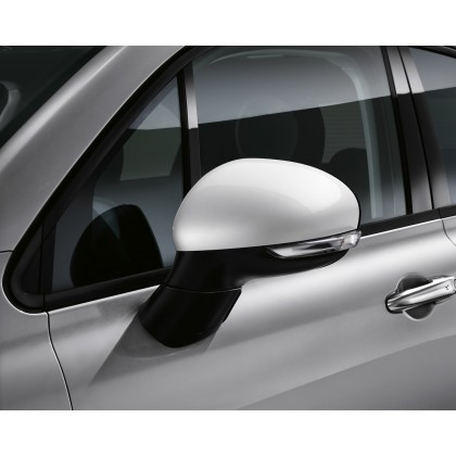 500X Side Mirror Covers/Replacement Caps - White - Set of 2