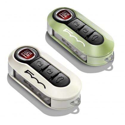 500|500C|500L-Trekking|500L-Estate Key Covers In Pastel Green/White