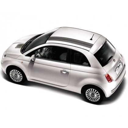 Fiat 500 Barcode Stripes Black White