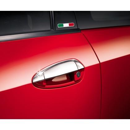 Punto Stylish Detachable Sport Look Chrome Handle Covers - Set of 5