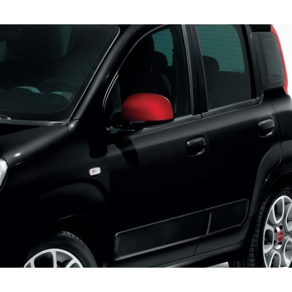 Panda Shadow Side Mirror Covers/Replacement Caps - Red - Set of 2