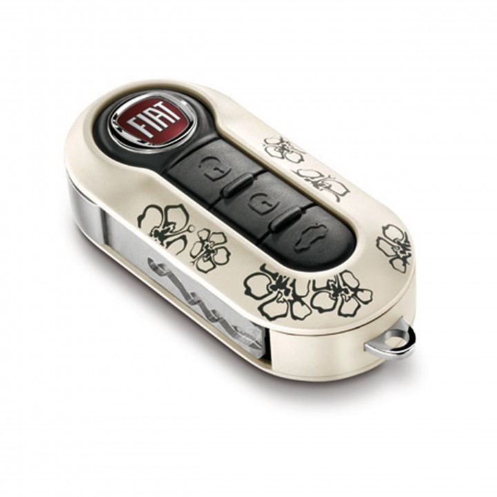 Fiat Key Covers - Flowers Twin Pack