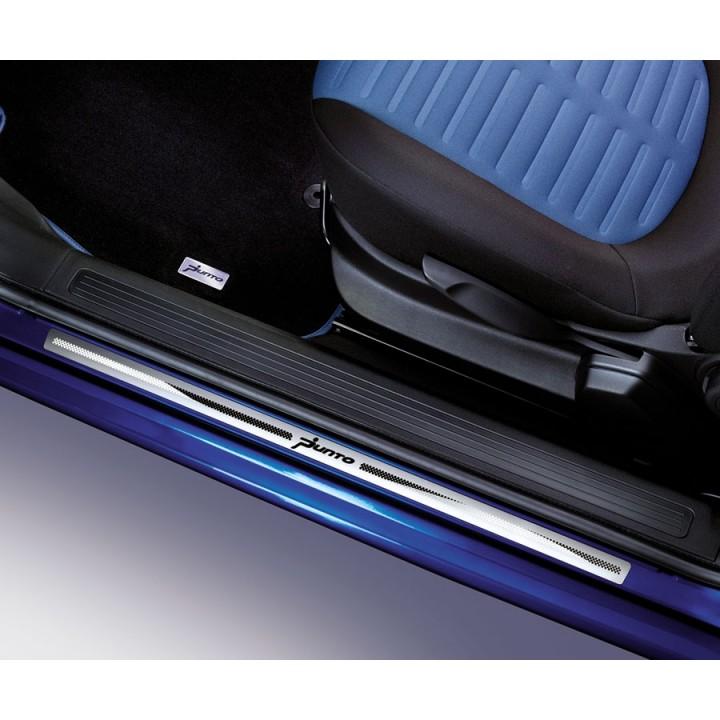 Fiat Grande Punto 3 Door Version Kick Plates Aluminium Official
