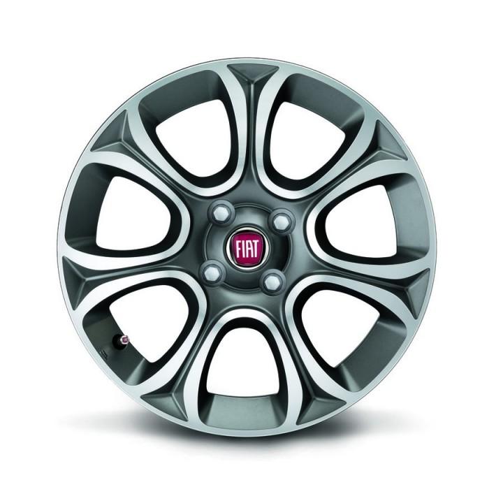 Fiat Punto 16 Quot 7 Spoke Anthracite Opaque Diamond Design