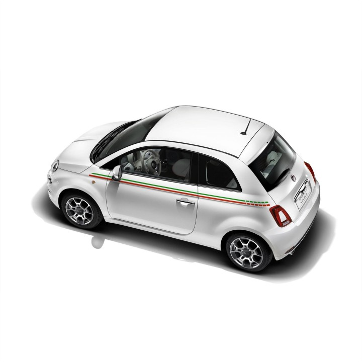 genuine fiat 500 decals italy side styling stripes official fiat uk store. Black Bedroom Furniture Sets. Home Design Ideas