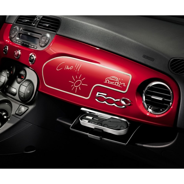 Fiat 500 Whiteboard For Black Dashboard Official Fiat Uk
