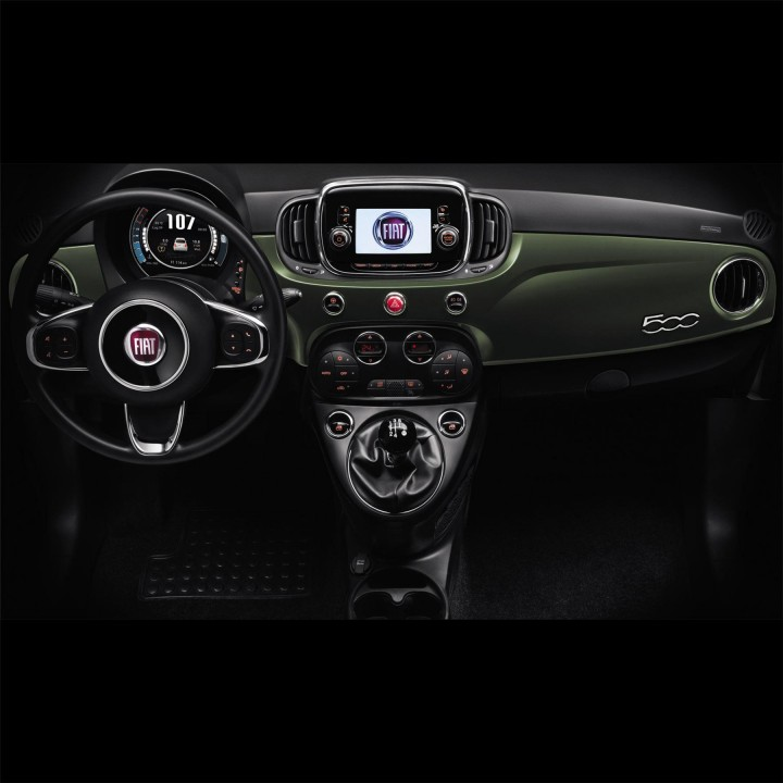 Genuine Fiat 500 Interior Decals Military Green Wrapped