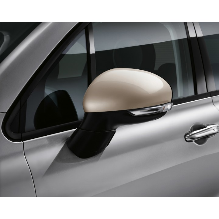 fiat 500x beige side mirror covers official fiat uk store. Black Bedroom Furniture Sets. Home Design Ideas