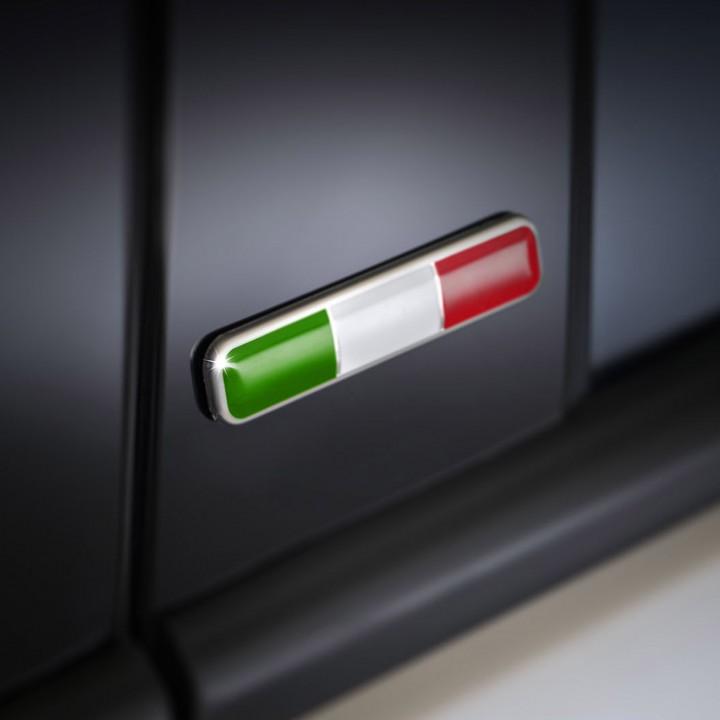 Genuine Fiat Stylish Side Pillars Decorative Italian Flag