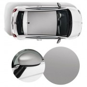 500 Wrapped Side Mirror Covers & Roof Graphics/Decal - Matt Silver