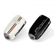 Fiat 500X Key Covers - White Italy & Black Logo