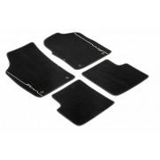 500 | 500C Carpet Mats Black With Black Edge And Ivory Logo