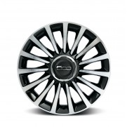 "500L|17"" Alloy Wheel Diamond Design - Two Tone Black - Set of 4"