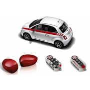 Fiat 500 Red Sport Pack: Side Stripes, Mirror And Key Covers