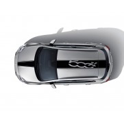 Fiat 500X Sticker Stripes for Roof and Bonnet - Black