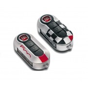 500 Chequered Flag Replacement for Broken Damaged Key Covers - Pair