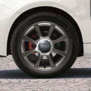 "500|16"" Alloy Wheel Kit 8 Single Spokes - Dark Silver - Set of 4"