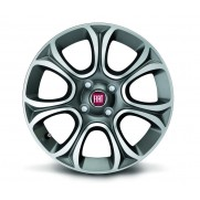 "Fiat Punto 16"" 7 Spoke Anthracite Opaque Diamond Design Alloy Wheels Set of 4"
