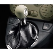 Fiat 500 Gear Knob and Black Gaitor - Ivory