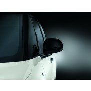 500L Side Mirror Covers/Replacement Caps-Ceramic Black-Set of 2