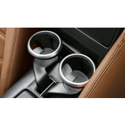 124 Spider Coffee/Tea Cup Holders Rings In Silver Satin